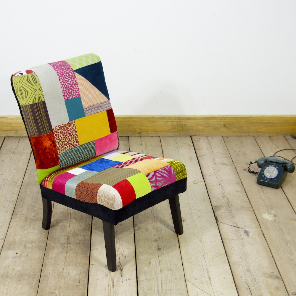 Attirant ... Pretty In Patchwork Accent Chair 5 Upcycled Furniture  ...